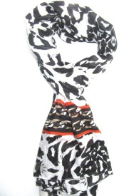 SAJAY FASHIONS Animal Print RAYON Girl's, Women's Stole