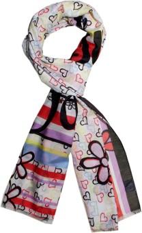 Disney By Shingora Printed Cotton, Silk Women's Scarf