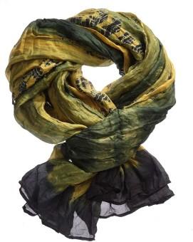 Iracc Printed Silk Women's Scarf
