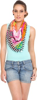J Style Printed Cotton Women's Scarf - SCFE8HPXW7EF9NHP