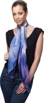 Scarves & Glitters Self Design Poly Silk Women's Scarf