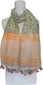 Vozaf Printed Silk Cotton Women's Scarf