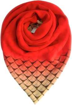 Niche Printed French Crepe Women's Scarf