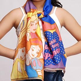 Disney By Shingora Printed Cotton, Viscose Women's Scarf