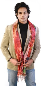 Manka Creations Floral Print Modal Silk Men's Scarf