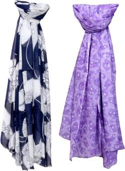 Indistar Self Design Cotton, Viscose Women's Scarf