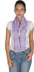Anekaant Striped Poly Viscose Women's Scarf