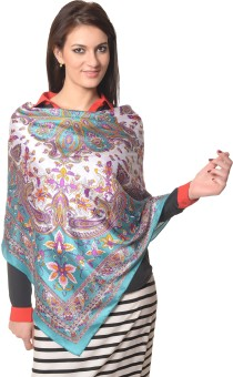 Meira Graphic Print Poly Crepe Women's Scarf