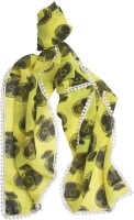Ivory Tag Printed Polyester Women's Scarf