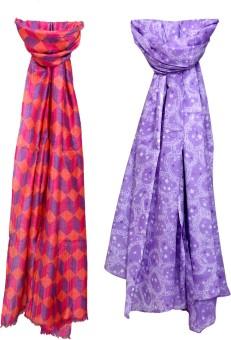 Indistar Self Design Cotton, Linen Women's Scarf