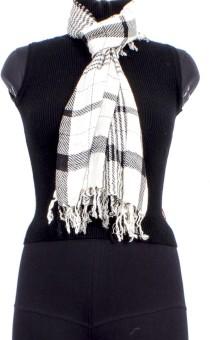 Trendif Checkered Cotton Women's Scarf - SCFE77328XUGRXCR