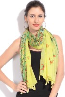 Get Wrapped Floral Print Cotton Blend Women's Scarf - SCFDY87PNHRPTXHA