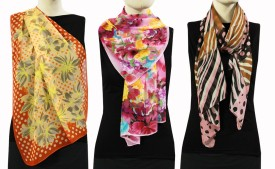 China Self Design Polyester Women's Scarf
