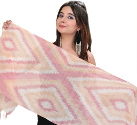 Exotic India Self Design Pure Cotton Women's Scarf
