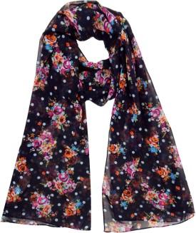 Hi Look Floral Print Polyester Women's Scarf - SCFEBN356FGYDYF7