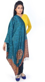 Little India Silk Self Design Women's Shawl