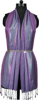 Crafts Republic Self Design Cotton Viscose Women's Scarf - SCFEAN9VQFKYGYVD