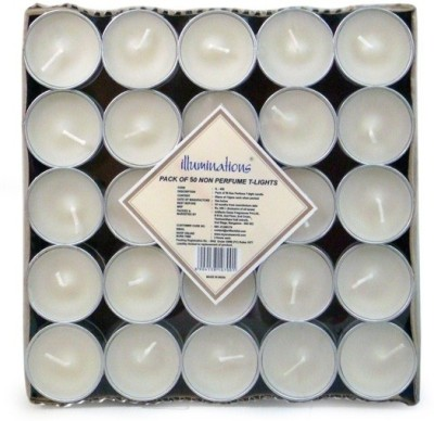 Illuminations Illuminations Pack Of 50 Unscented Tlight Candle