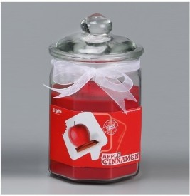 GoGifts Octogonal Jar Candle - Apple Cinnamon