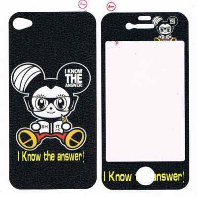 G & S Enterprises IPHONE 4 I KNOW THE ANSWER Front & Back Protector for Apple Iphone 4/4s