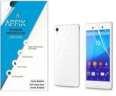 Affix P1CL044 Clear Front & Back Protector for Sony Xperia M4 Aqua Dual