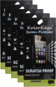 KolorEdge Pack Of 5 KolorEdge Screen Protectors For Lava Iris Fuel 50 Screen Guard For Lava Iris Fuel 50
