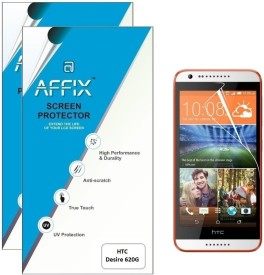 Affix P2CL038 Pack of 2 Clear Screen Guard for HTC Desire 620G
