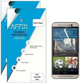 Affix P2UL023 Pack of 2 Ultra Clear Screen Guard for HTC One M9+