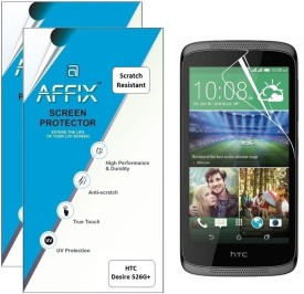 Affix P2SR040 Pack of 2 Scratch Resistant Screen Guard for HTC Desire 526G+