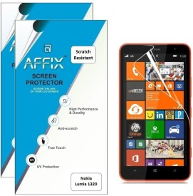 Affix P2SR117 Pack of 2 Scratch Resistant Screen Guard for Nokia Lumia 1320