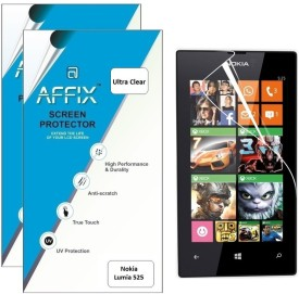 Affix P2UL126 Pack of 2 Ultra Clear Screen Guard for Nokia Lumia 525
