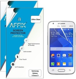 Affix P2UL170 Pack of 2 Ultra Clear Screen Guard for Samsung Galaxy S duos 3