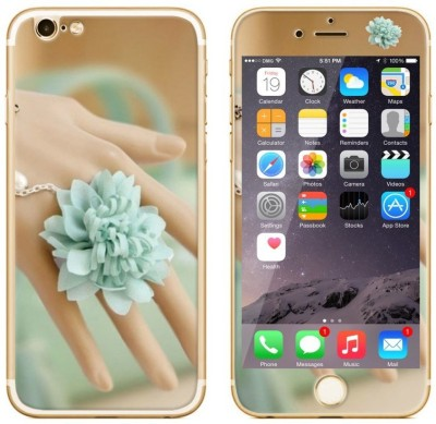 Dress My Gadget Flower Nail Art Designer Front & Back Tempered Glass for iPhone 6