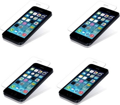 Saihan 4 Pack of Premium Quality Screen Protector for Iphone 5s Tempered Glass for Iphone 5s