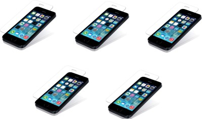 Saihan 5 Pack of Premium Quality Screen Protector for Iphone 5c Tempered Glass for Iphone 5c