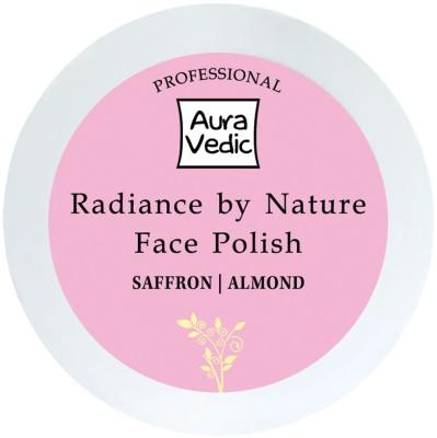 Auravedic Scrubs Auravedic Professional Radiance by Nature Face Polish with Saffron Almond Scrub