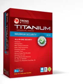 Trend Micro Maximum Security 3 Pc 1 Yr - 2014 (Separate Cd Per Licence Key)