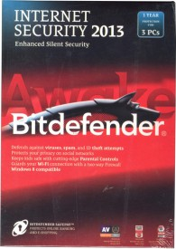 Bitdefender Internet Security 2013 3 PC 1 Year