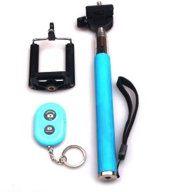Acromax Selfie Stick with Bluetooth Remote for Blackberry 9670 Monopod