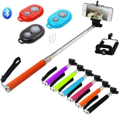 Eshaan Stick with Bluetooth Remote All Smart Phones Monopod Kit Selfie Stick