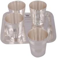 Amba Handicraft Glass Tray Serving Set (Pack Of 5)