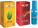 Moods Aloe & Absolute Xtasy Combo 1 With Lube - Pack Of 3