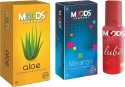 Moods Aloe & Melange Combo With Lube - Pack Of 3
