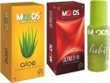 Moods Aloe & Ultrathin Combo 1 With Lube - Pack Of 3