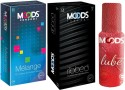 Moods Melange & Ribbed Combo With Lube - Pack Of 3