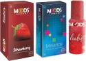 Moods Strawberry & Melange Combo With Lube - Pack Of 3