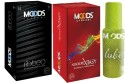 Moods Premium Ribbed & Xtasy Combo With Lube - Pack Of 3