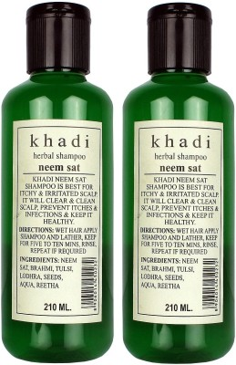 Khadi Herbal Neem Sat Shampoo Pack Of 2 - 210 Ml