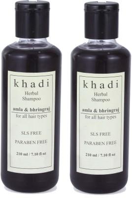 Khadi Herbal Amla & Bhringraj Shampoo (SLS, Sulfate & Paraben Free) (420 Ml)