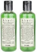 Khadi Herbal Henna Tulsi Shampoo Pack Of 2 (420 Ml)